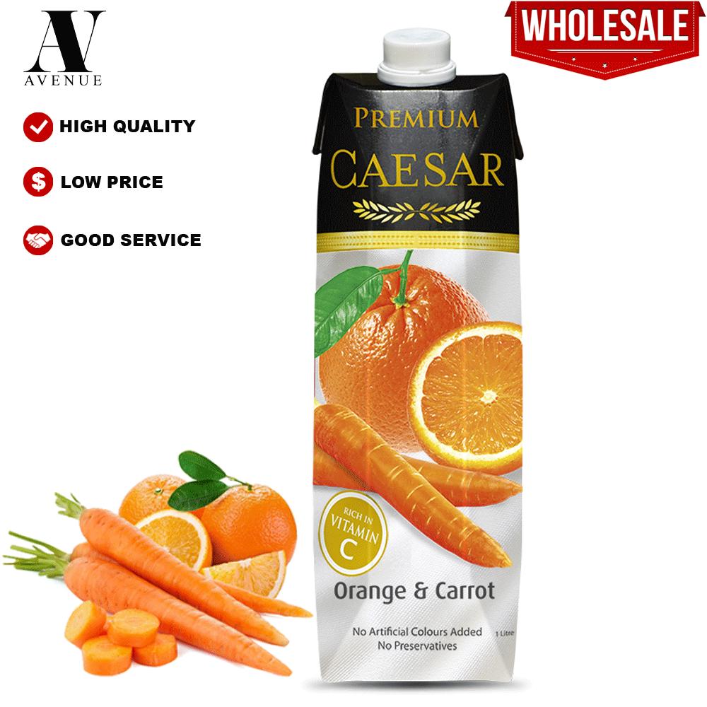 Caesar juice Orange & Carrot 1L Tetra Pack عصير سيزر جزر برتقال كرتون
