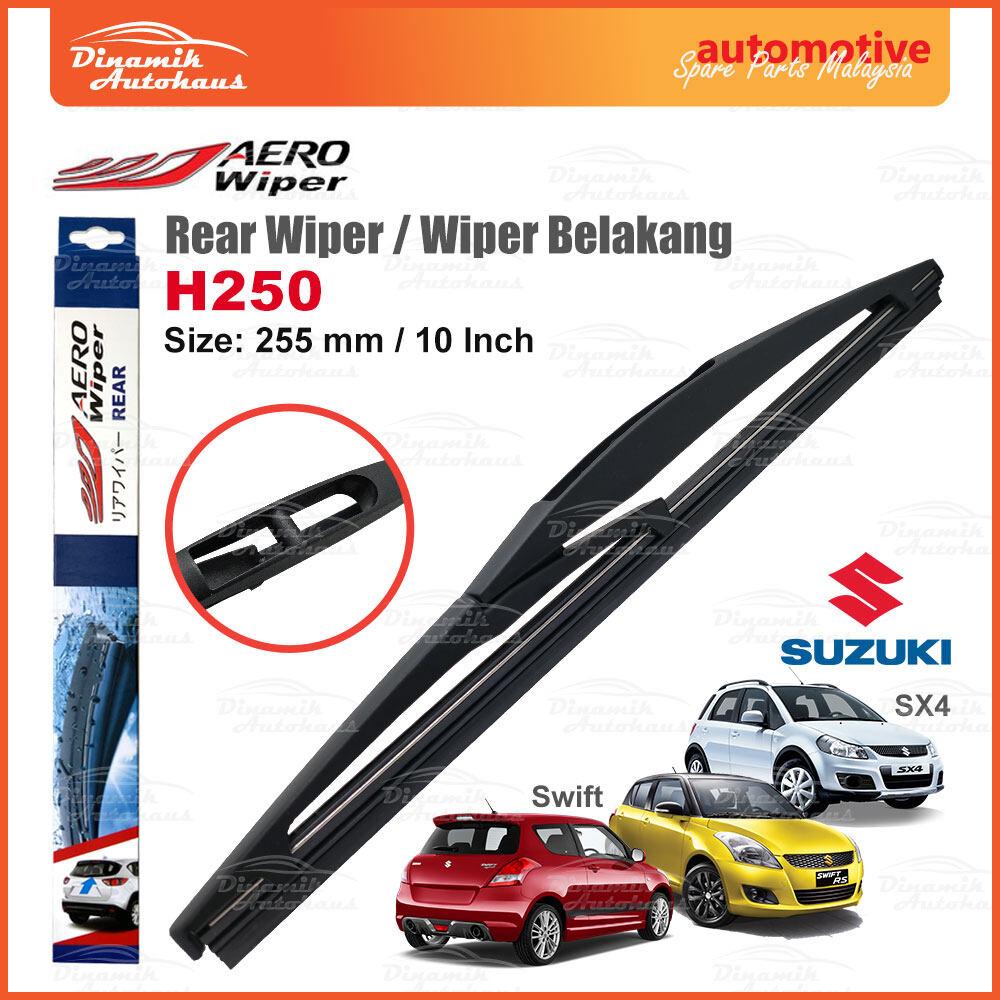 Suzuki Swift / SX4 / Vitara Car Real Windshield (Cermin Belakang) Wiper Blade 10 Inch - Aero Rear Wiper H250