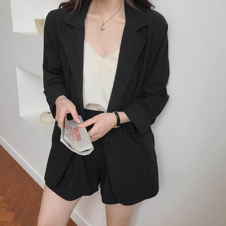 (Pre Order14 Days  JYS Fashion Korean Style Women Blazer +BottomSetCollection515-4382col515-4382-Black -M