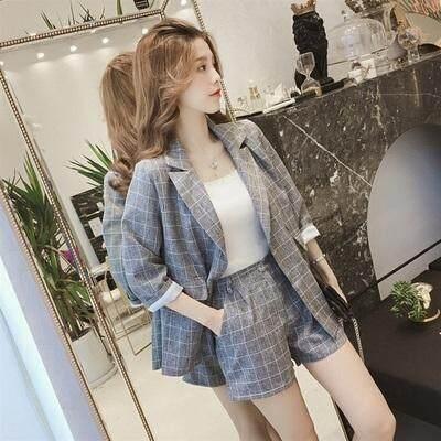(Pre Order14 Days JYS Fashion Korean Style Women Blazer Suit Collection 525a-3357col525a-3357--Grey -M