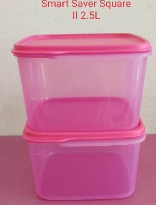 2pcs/set Tupperware Smart saver set square (2) 2.5L