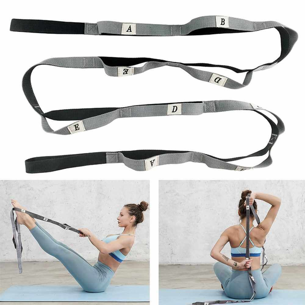 Gradient Fitness Stretching Strap Elastic Stretching Strap Ideal for Home Gym Travels Yoga, Pilates, Dance (Grey)