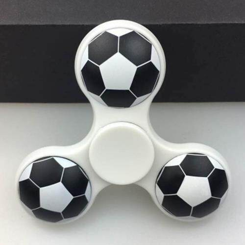 FIDDLE TOY SOCCER PATTERN FINGER GYRO FIDGET SPINNER (WHITE) Toys for boys