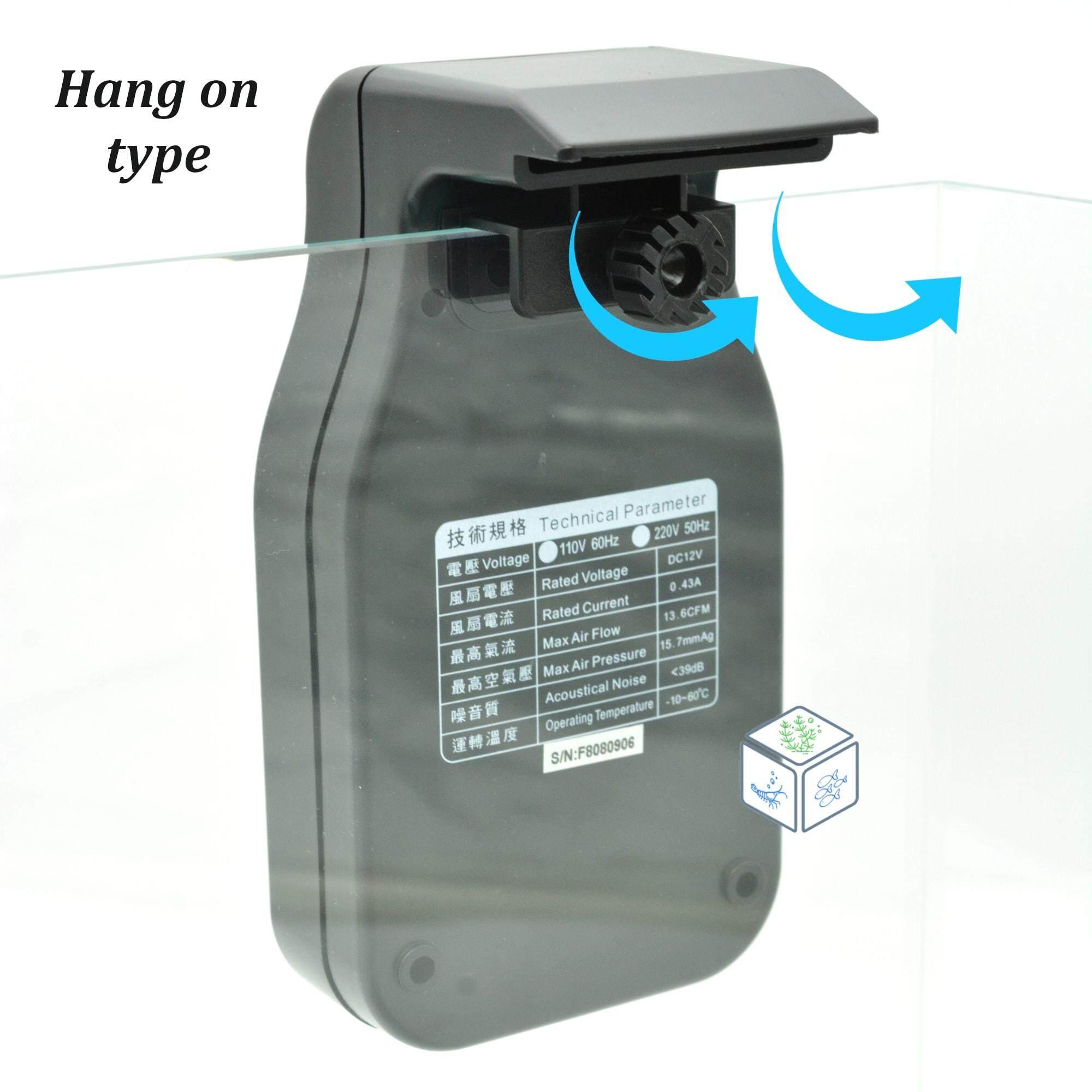 Aquaworld Hang On Type Aquarium Cooling Fan (Black)