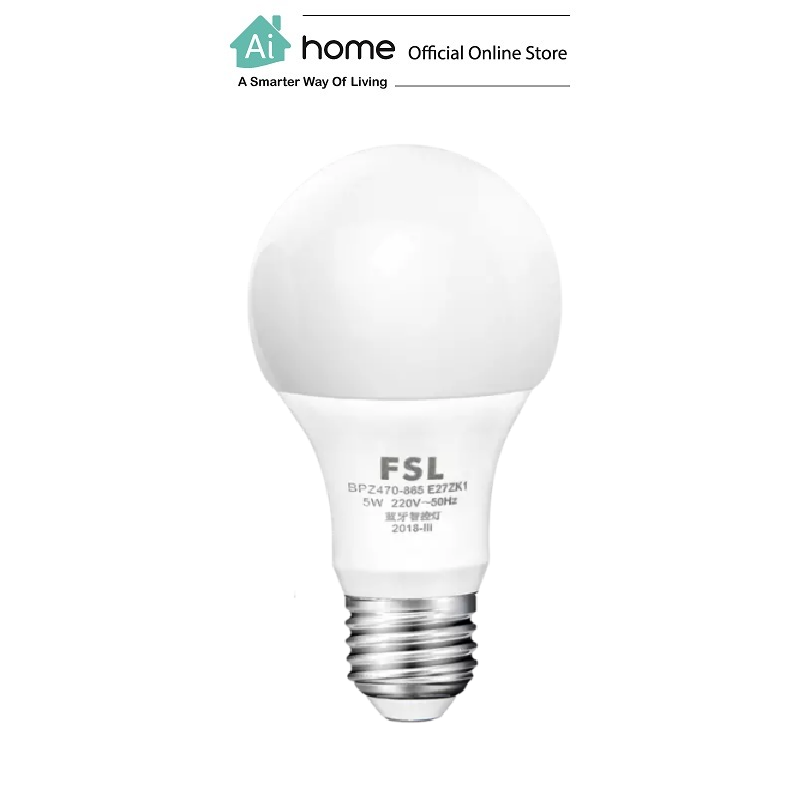 TMALL Genie FSL Smart LED Light Bulb E27 (5W 3000-6500K) with 3 Month Malaysia Warranty [ Ai Home ]