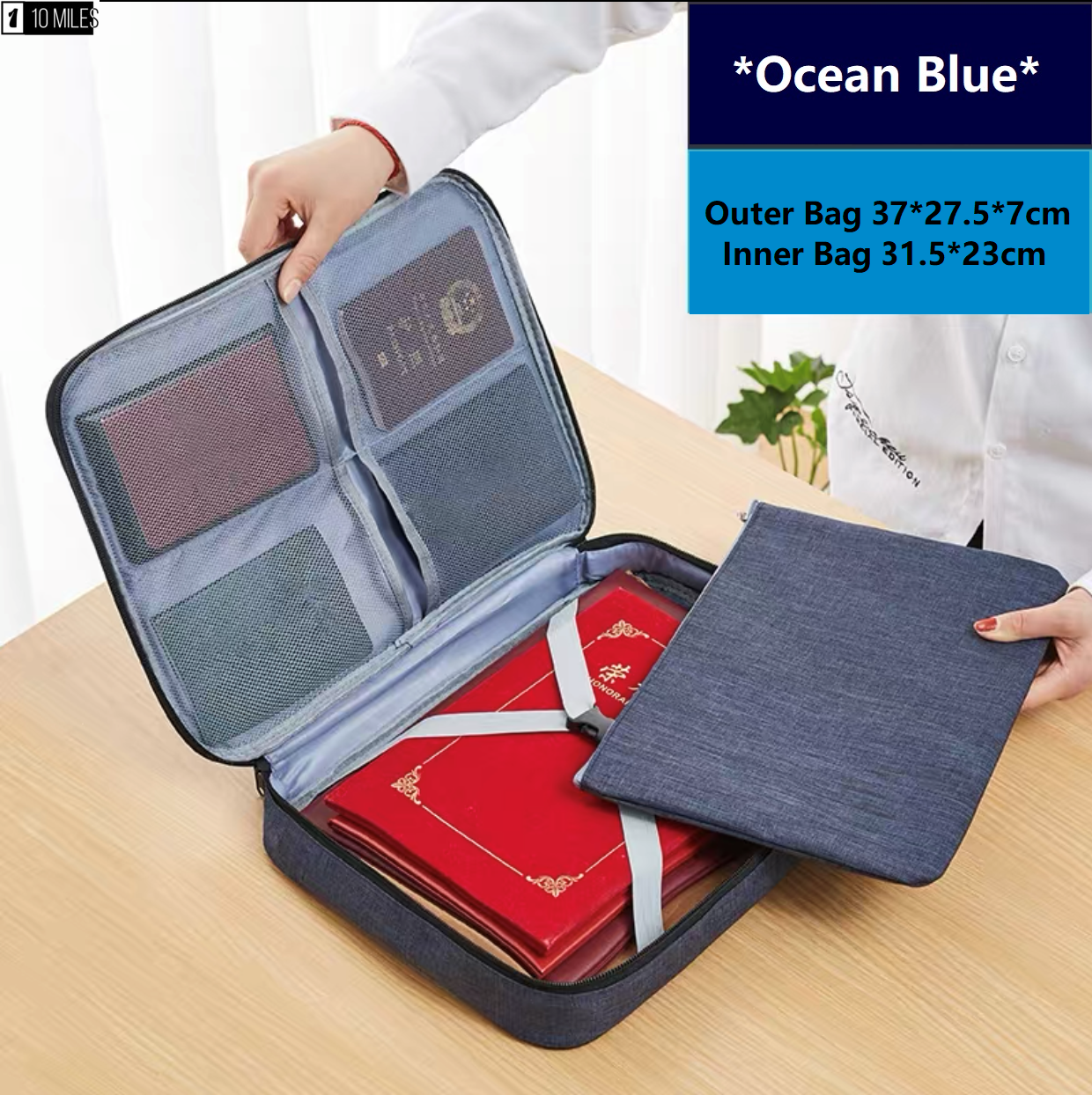 ☑️Optimum Document Storage Bag with Soft Clutch Bag Included for Business Travel Vacation Trip File Organizer