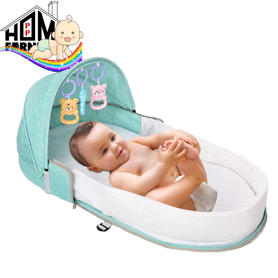 PP BABY Multipurpose Baby Bed with mosquito net/baby mattress/baby bag with bed/Bayi tilam tidur/ beg bayi/婴儿包/婴儿床 PP HOME Kids furniture/Infant play toys/ Baby toys/ Mainan baby婴儿小孩玩具:9267