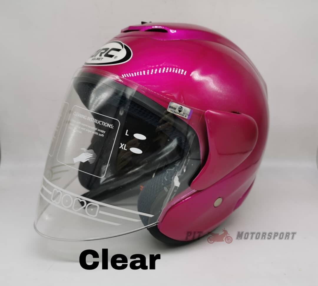 PURPLE Helmet ARC RITZ Pink Original Size L / XXL Add On Visor Clear / Smoke / Gold / Red / Blue / Rainbow Visor & Helmet ARC