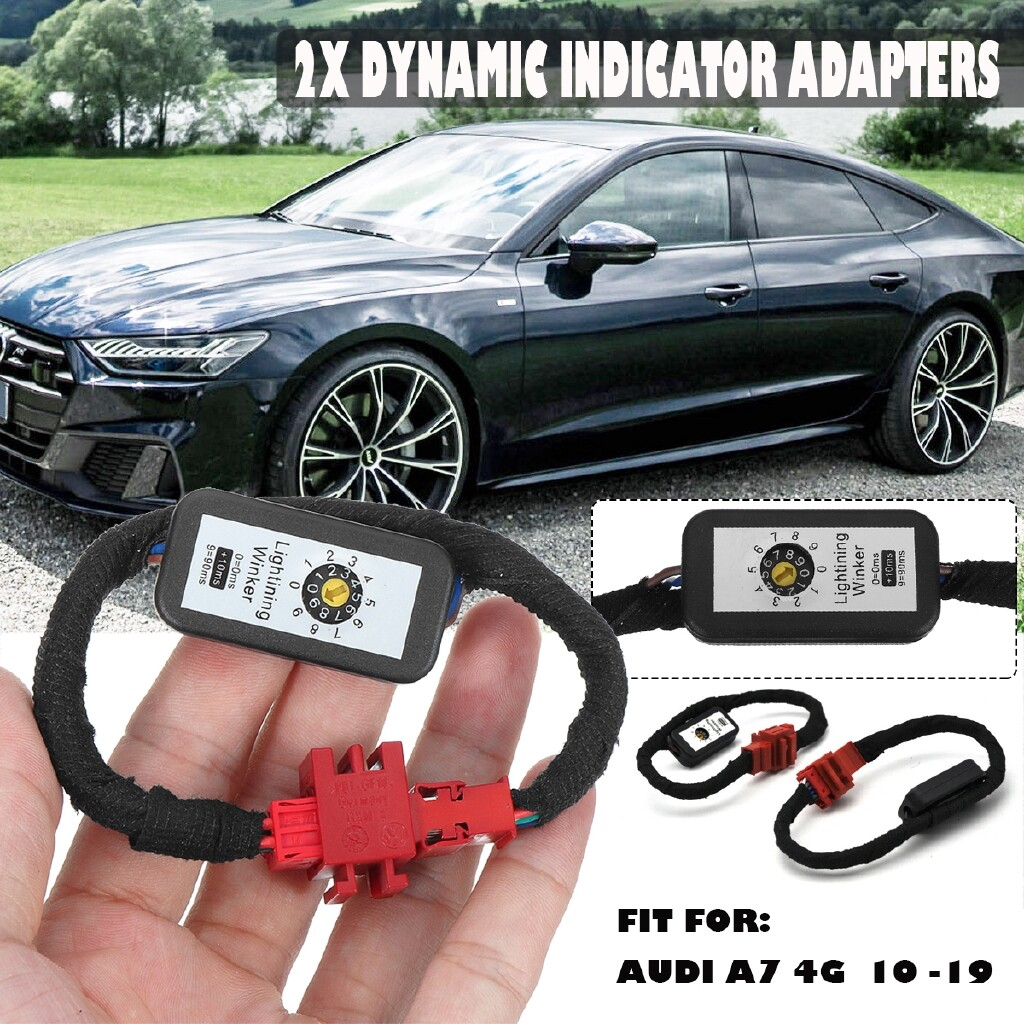 Car Lights - 2x Pre-Facelift Dynamic LED Indicator Flasher Adapters Rear Light For Audi A7 4G - Replacement Parts