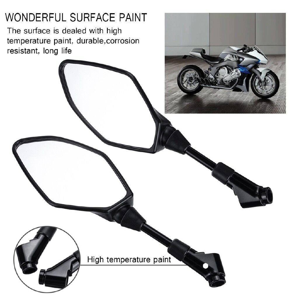 Moto Accessories - Pair Motorcycle E9 Rear View Mirrors For YAMAHA MT-03 MT-07 MT-09 MT-10 FZ07 09 - Motorcycles, Parts