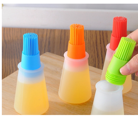 Silicone Oil Brush Bottle Pastry for Barbecue Baking Cooking BBQ Easy Carrying