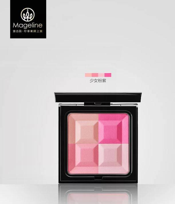 Mageline 4-Tone Moisturizing Blusher - Romance Pink Peach