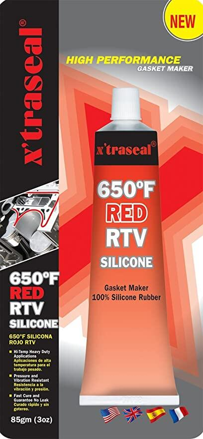 X'traseal 650` Red RTV Silicone  (85G)