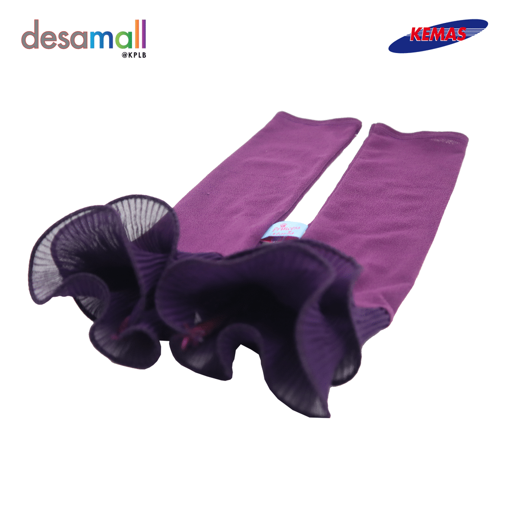 ELLYS EKSKLUSIF Handsocks Humairah Ruffel - Deep Purple