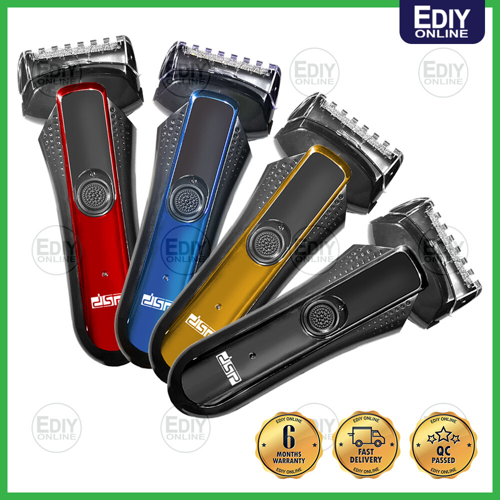 RECHARGEABLE DSP 60021 Waterproof Electric Foil Shaver Stainless Blade Razor Hair Trimmer Remover Clipper (Random Color) 【BUBBLE PACKING】