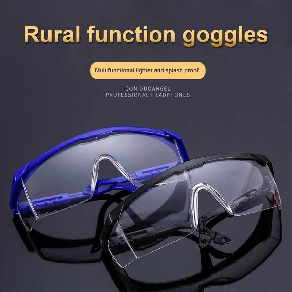 Safety Glasses Goggles Fashion Eyewear Anti Dust Windproof Anti Fog Eye Wear for Eye Protection (Transparent)
