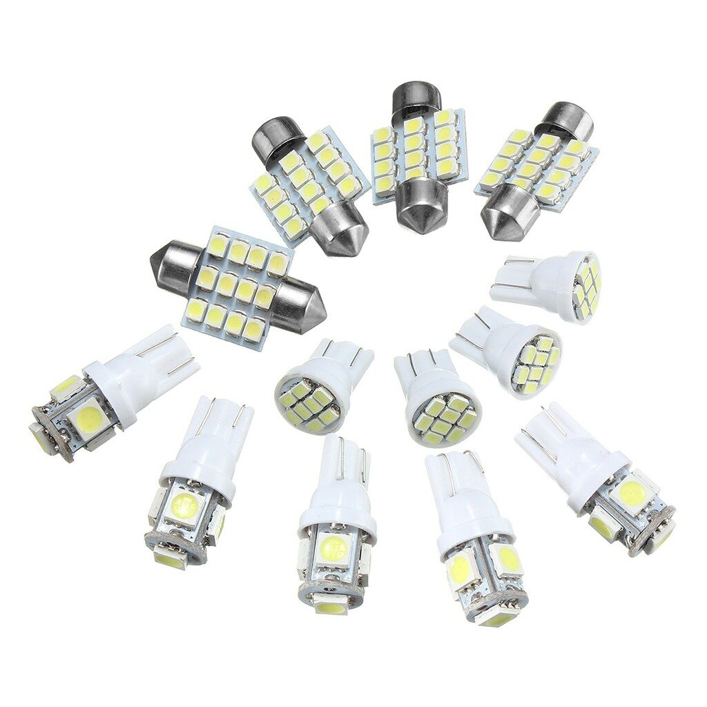 Engine Parts - Xenon-White-13 PIECE(s)-Car -Interior- Light -Package-T10-31mm-Map-Dome-License-Plate - Car Replacement