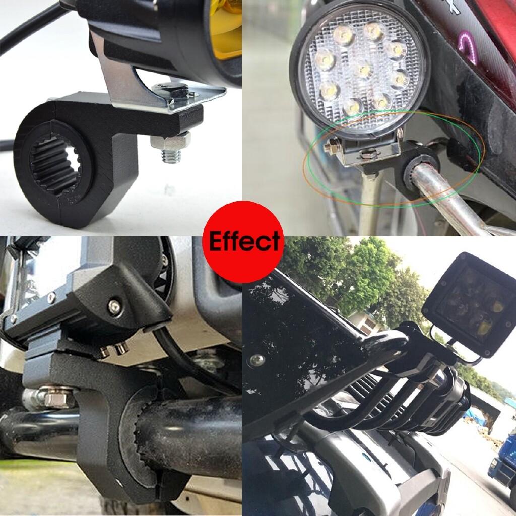 Car Lights - 1 1.5 1.75 Pair Bullbar Tude Mount Bracket LED Light Bar Clamp Kit Truck Boat - Replacement Parts
