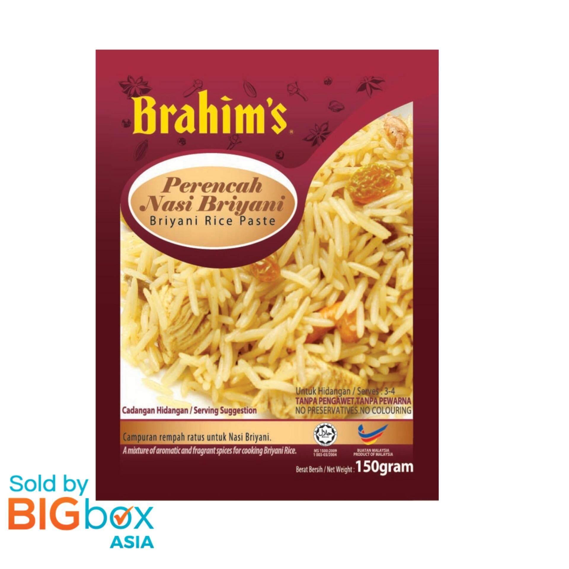 [BIGBox Asia] Brahims Ready To Use Briyani Rice Paste 150g - Malaysia