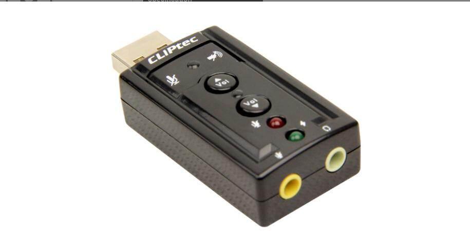 READY STOCK-CLiPtec U--SOUND USB 7.1CH Virtual Sound Card BMA230