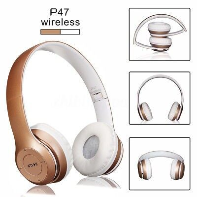 Over-Ear Headphones - 88Db WIRELESS BLUETOOTH Sports Headphones With Mic - GOLD / SILVER / ROSE GOLD
