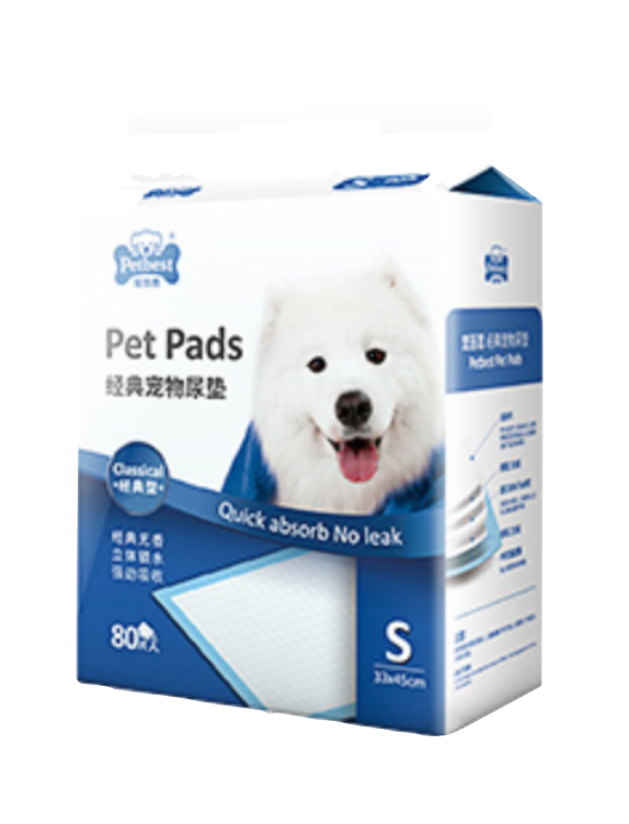 PETBEST【宠百思】Classic Training Pet Pads / Wee Wee Pads / Urine Pads 经典宠物尿垫 S Size (33cm x 45cm) 80pcs