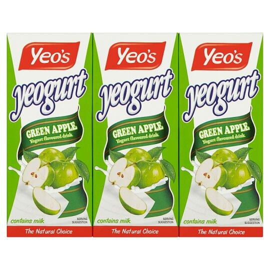 YEO'S YEOGURT GREEN APPLE YOGURT FLAVOURED 250ML
