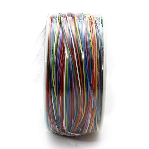 Plugs & Adapters - Color Board Fly Line Single Core Tinned Copper Wire Air line Electronic Wire - Home Improvement
