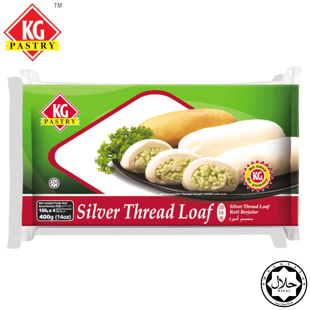 KG PASTRY Silver Thread Loaf Plain (4 pcs - 400g)