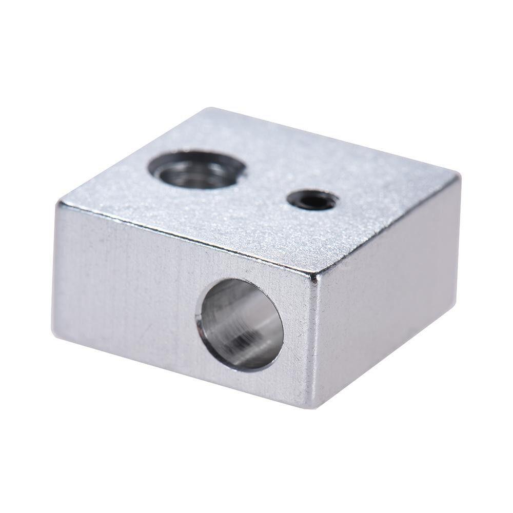 Printers & Projectors - 10 PIECE(s) Aluminum Heater Block All-Metal 20 20 10mm for MK7 MK8 Extruder RepRap i3 DIY 3D Printer - SILVER-10 PIECE(s) / SILVER-2 PIECE(s) / SILVER-1 Piece