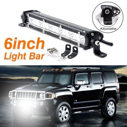 18W 6000K LED Work Light Bar Driving Lamp Fog Off Road SUV Car Boat Truck ATV