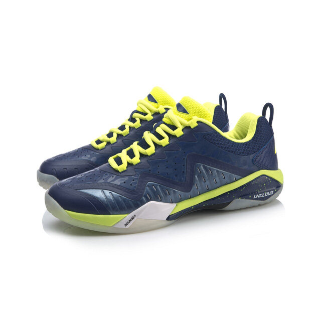 Li-Ning Shadow IV Men's Badminton Shoes - Navy/Lime AYAP019-4