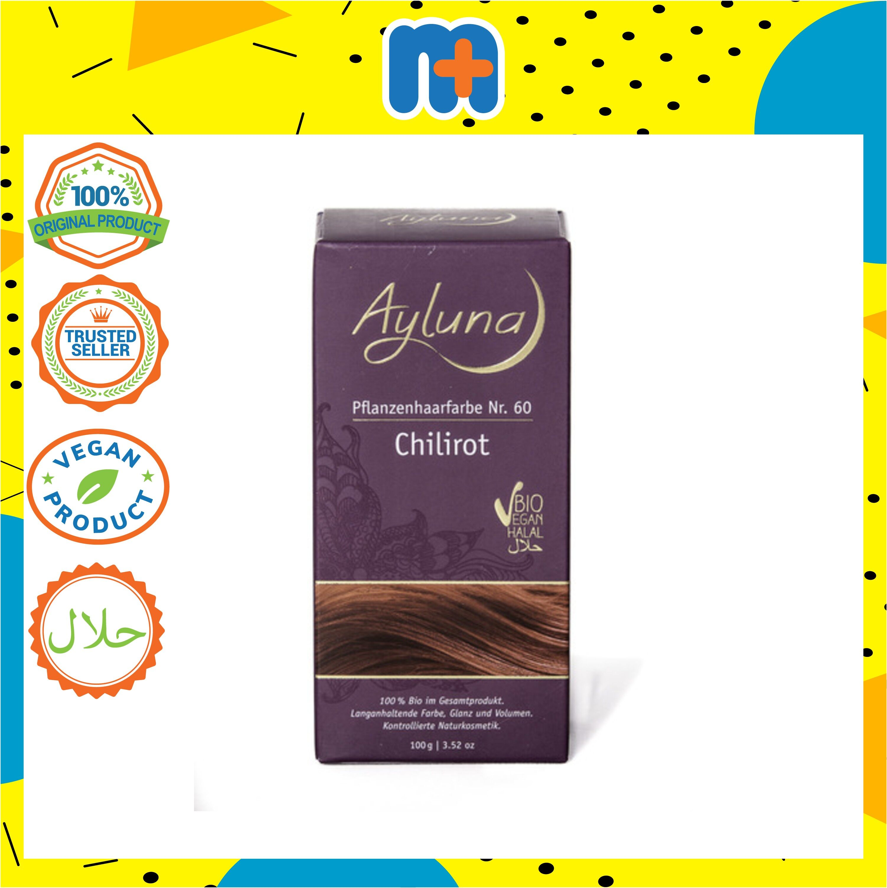 [MPLUS] AYLUNA Organic Plant Based Hair-Dye Chilli Red 100g
