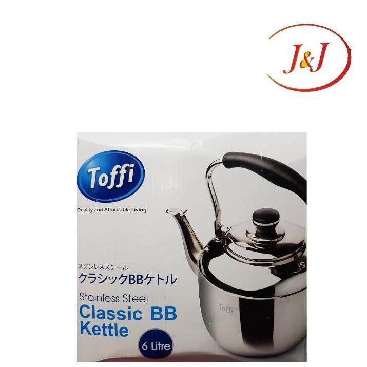 TOFFI Stainless Steel Whistling Kettle, 6LTR
