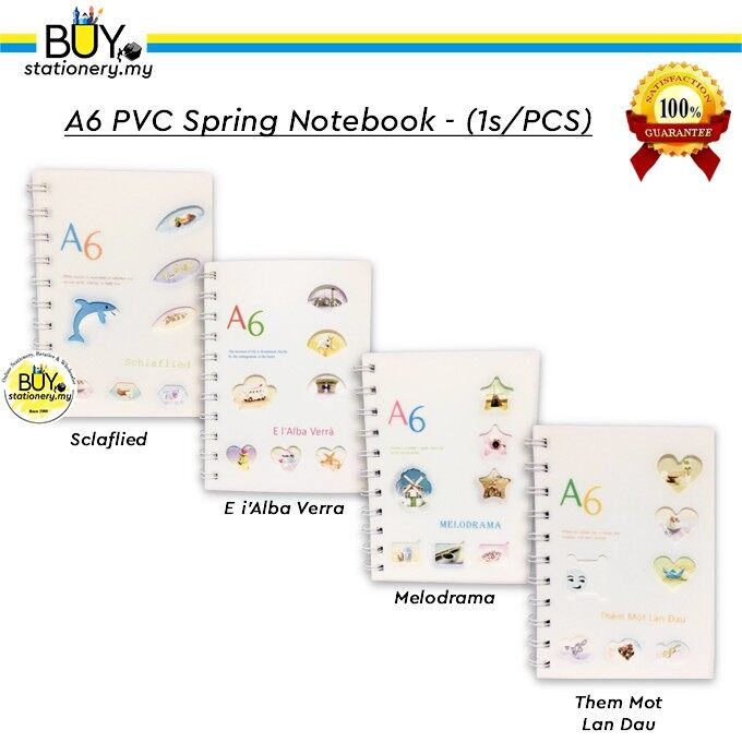A6 PVC Spring Notebook - (1s/PCS)