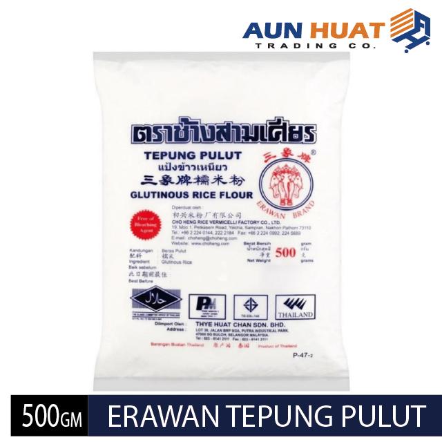 Tepung pulut cap Tiga Gajah 500 gm