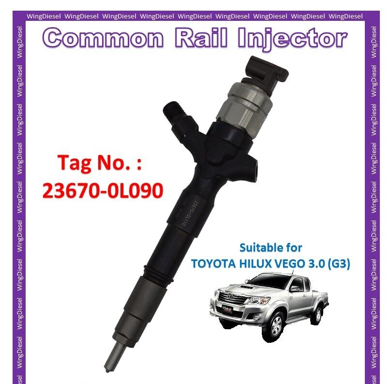 100% New Toyota Hilux Vego 3.0 (G3) Diesel Fuel Pump Common Rail Injector