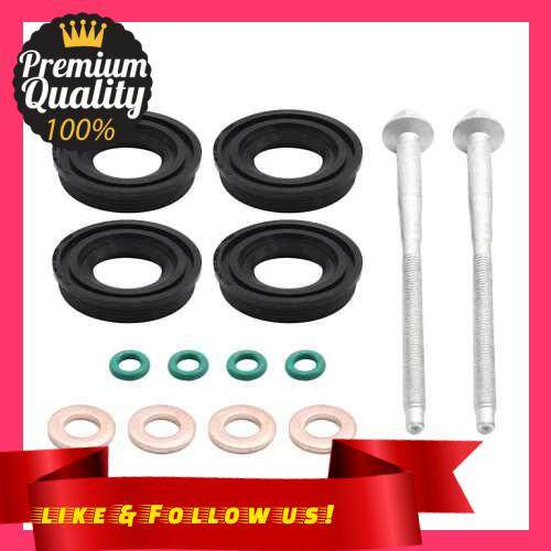 People\'s Choice Injector Seal Kit for Ford, Injector Seals + Washers + O-rings + Bolts Fit for Ford Transit MK7 2.2 (Standard)