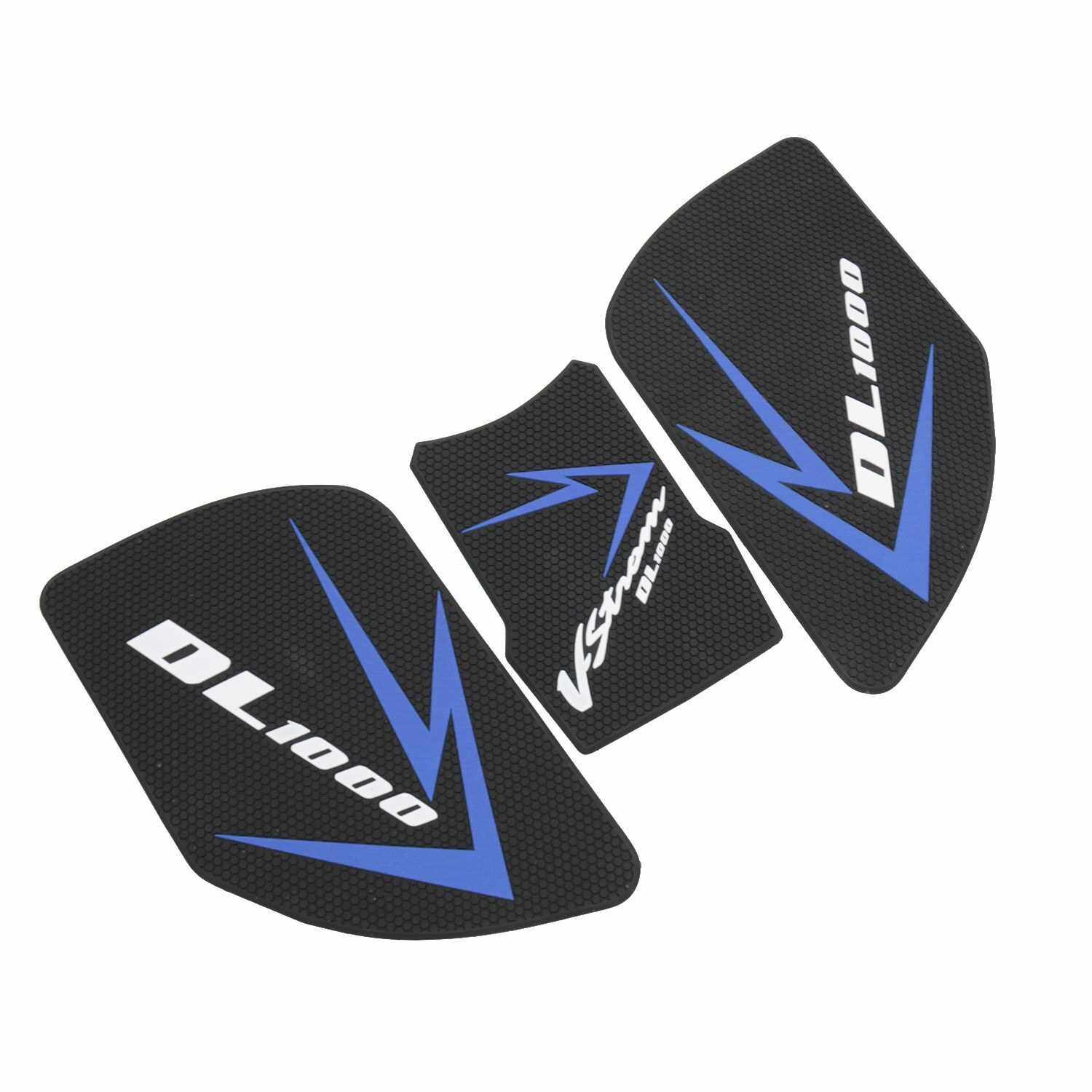 Motorcycle Sticker Gas Fuel Oil Tank Pad Protector Decal replacement for SUZUKI V-STROM DL1000 DL 1000 2017-2019 (Blue)