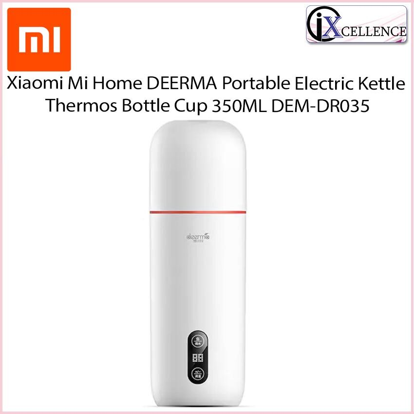[IX] Xiaomi Mijia DEERMA Portable Electric Kettle Thermos Bottle Cup 350ML DEM-DR035