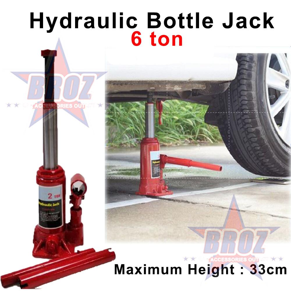 HEAVY DUTY HYDRAULIC BOTTLE CAR JACK - 6 TON (Maximum Height 33 cm) Jack Kereta Car Jack