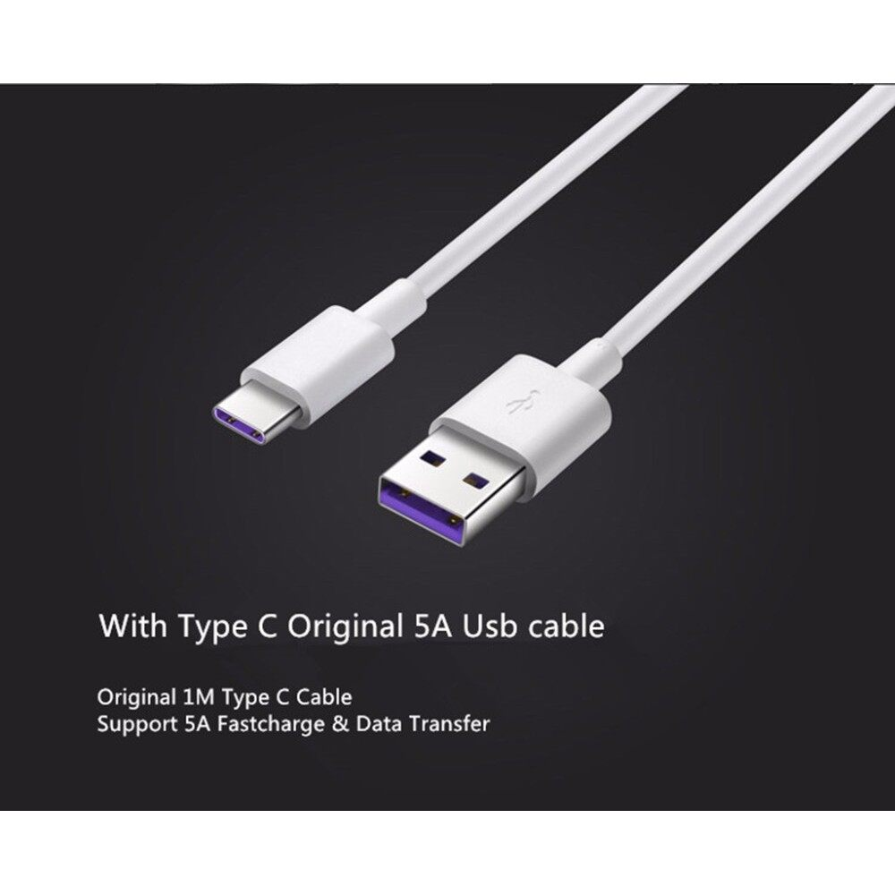 Original Huawei Type C 5A Data Charging Cable (Super Charge Type-C 5.0A)