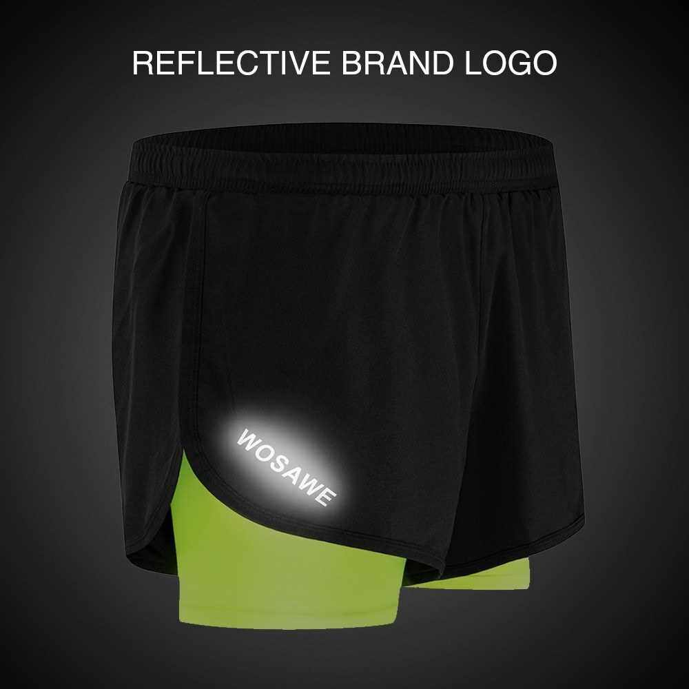 Men 2-in-1 Running Shorts Quick Drying Breathable Active Training Exercise Jogging Cycling Shorts with Longer Liner (Xxl)