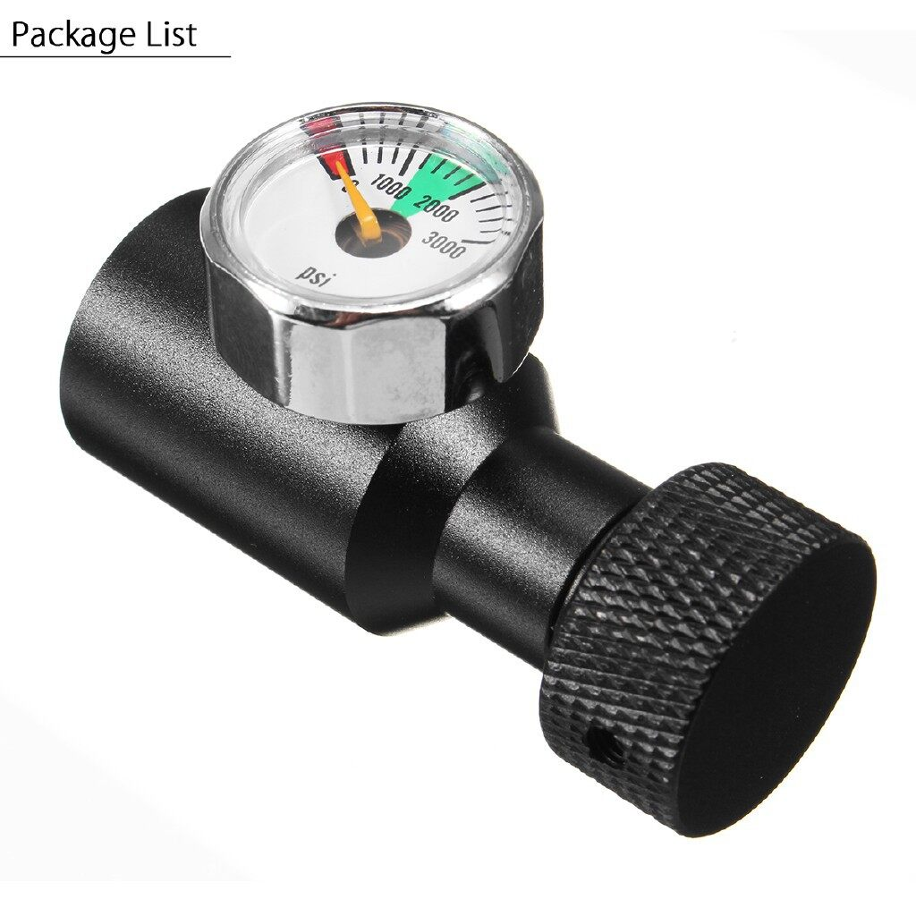 Gauges & Meters - Paintball Co2 Adapter Air Regulator Fill Station On/Off 3000psi Gauge 1/8 NPT - Car Accessories
