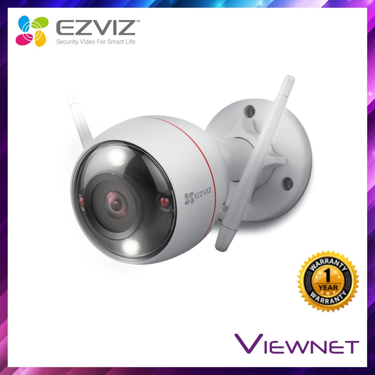 Ezviz C3W IP Camera, 1080P Full HD, 118° Degree Outdoor, IP66, 2.8MM, CCTV, *Max 128GB / 256GB TF*, Black & White Night Vision / Color Night Vision (CS-CV310-A0-1B2WFR) / (CS-CV310-A0-3C2WFRL)