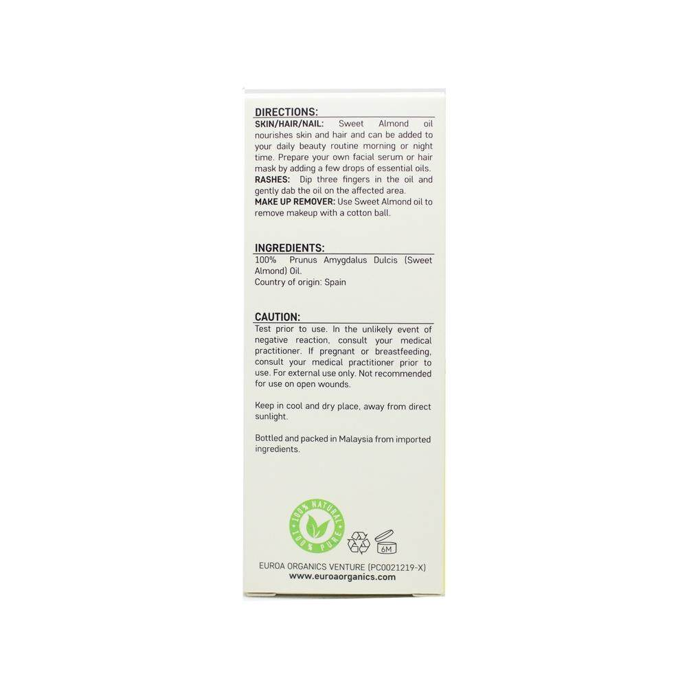 EUROA ORGANICS Sweet Almond Oil (20ml)