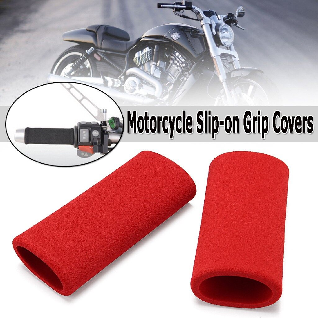 Moto Accessories - Motorcycle Slip-on Foam Anti Vibration Handlebar Grip Cover For Honda Mazda BMW - Motorcycles, Parts