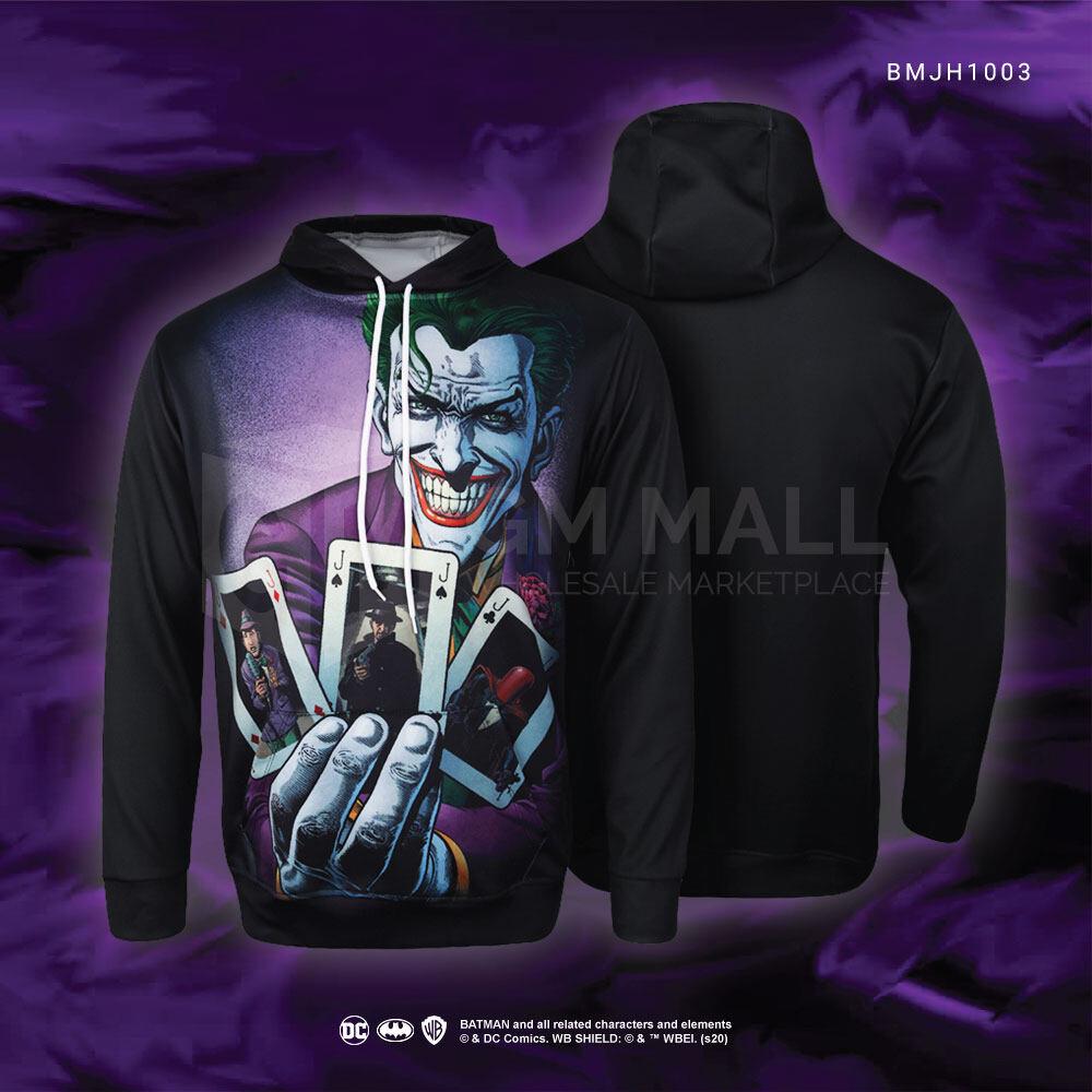 DC JUSTICE LEAGUE Joker Black Hoodies - UNISEX Casual Long Sleeve Jacket Sports Gym Jogging Running Hooded Tops [BMJH1003]