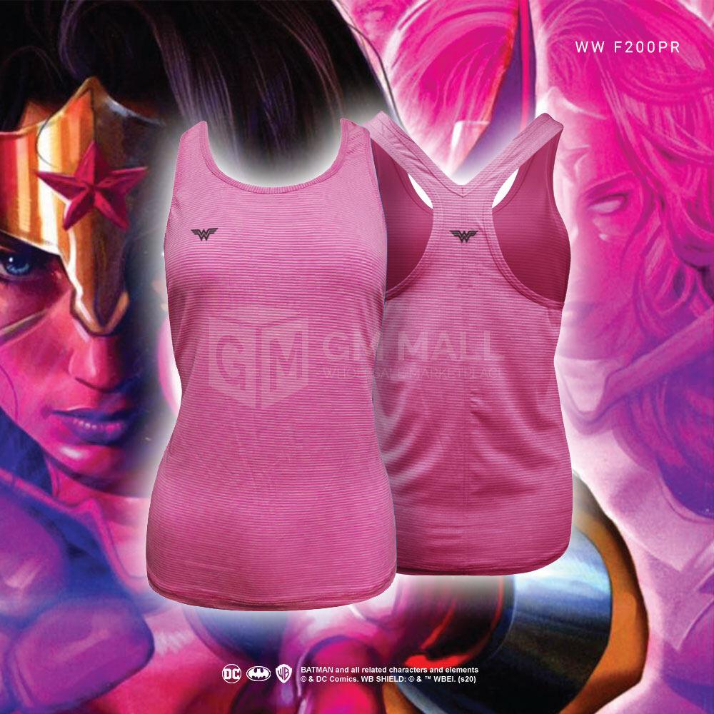 BATMAN DC Exclusive Pink Women Gym Sports Vest Sleeveless Shirts - Tops Sport Fitness Women Jogging Zumba Clothes Singlets [WWF200PR]