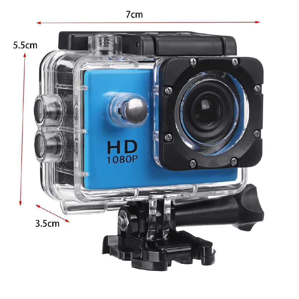 Cool Gadgets - 1080P 2.0 Underwater Digital Video LCD Camera Recorder Outdoor Sport Waterproof - BLACK / WHITE / SILVER GREY / YELLOW / RED / GOLD / BLUE